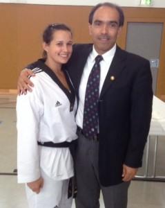 Ramona Trur mit Trainer Taghi Mahmoudi