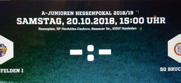 A Jugend der JSG Hünfelden spielt im Hessenpokal gegen den SG Bruchköbel